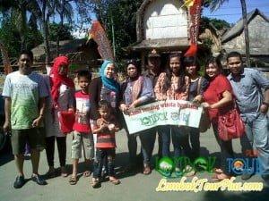 Wisata desa sade Bpk Abdul dan keluarga