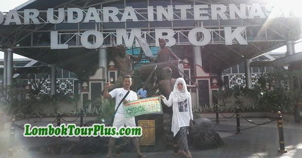 Bapak Didin tiba di bandara lombok
