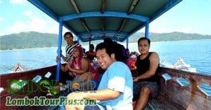 Suasana Perjalan ke Gili Nanggu Lombok