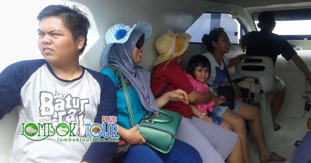 Perjalanan wisata Ibu Erna menuju Gili Trawangan Lombok