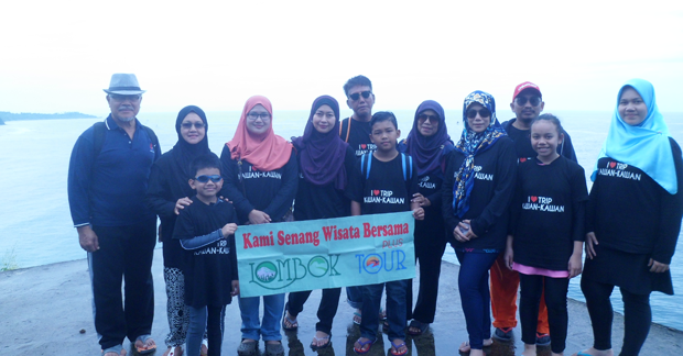 Wisata Ibu Nur dan Keluarga di pulau Lombok