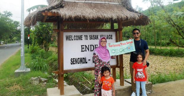 Wisata Desa Sade Bapak Prima dan keluarga