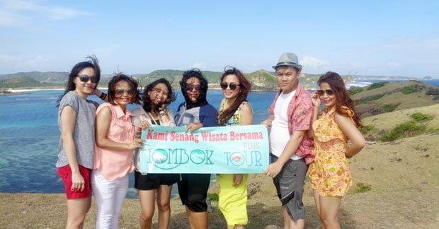 Wisata Ibu Leony dan sahabat di bukit merese Lombok